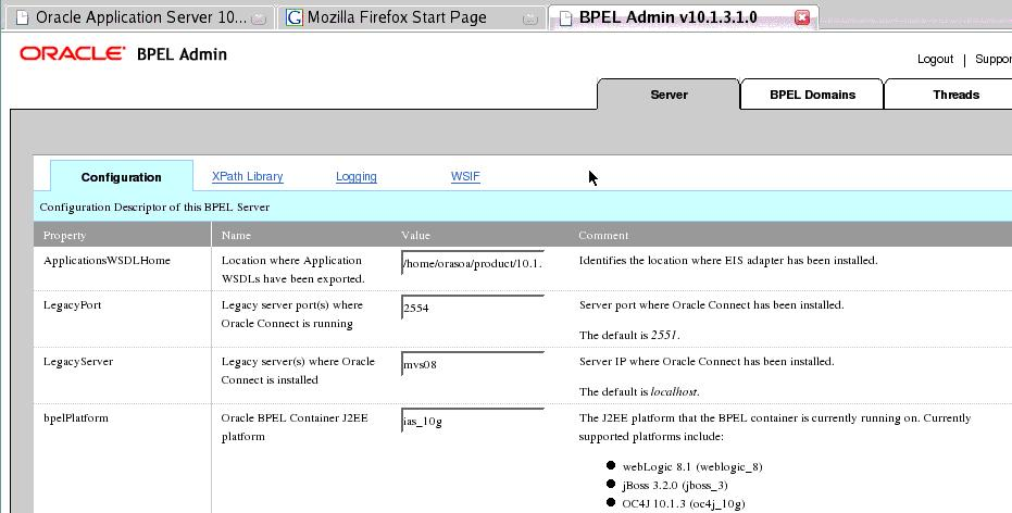 BPEL Admin Console