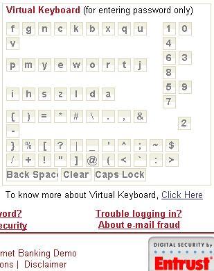 Virtual Keyborad from entrust