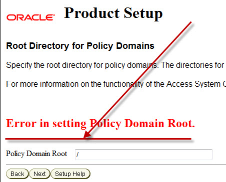 OAM Policy Manager Setup Issue