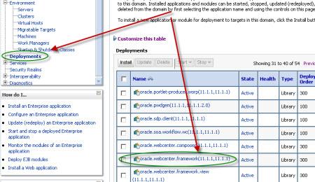 Error while deploying custom webcenter application to