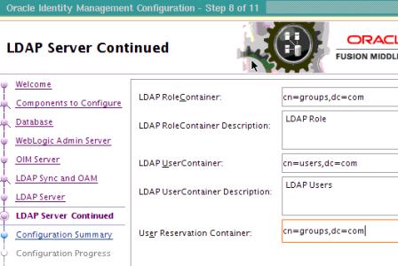 Part VIII (Optional) Configure LDAP Sync with OIM 11g (OIM 11g