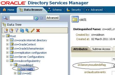 Registering Database with OID : Directory does not contain the