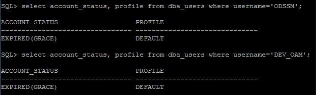 OAM/OIM schema passwords expired - Oracle Trainings for Apps