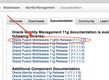 Oracle Identity Management 11g R2 documentation now available