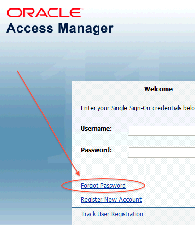 Forgot Password link on OAM Login Page - Oracle Trainings for Apps