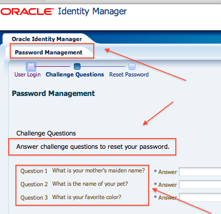 OIM 11g Challenge Questions - Everything you must know - Oracle ...