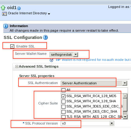 Configure SSL for Oracle Internet Directory (OID) - Oracle Trainings