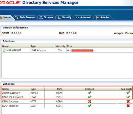 SSL configuration in OVD - Oracle Virtual Directory - Oracle