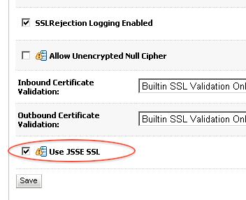 WebLogic SSL configuration : Inconsistent security