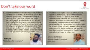 Testimonials of FMW
